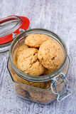 Apple and peanut butter cookies Royalty Free Stock Photos