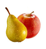 Apple and pear royalty free stock photo