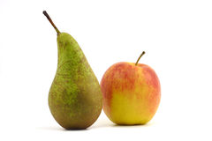 Apple and pear Royalty Free Stock Image