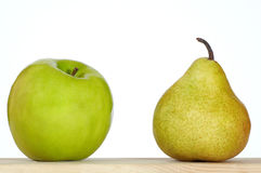Apple and pear Stock Image