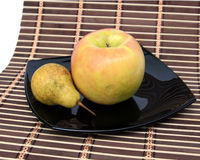 Apple and pear Stock Images