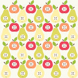 Apple  and pear background Stock Photography