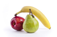Apple, Pear and Banana Royalty Free Stock Photography