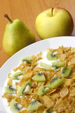 Apple,pear and cornflakes Royalty Free Stock Photo
