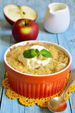 Apple and pear crumble. Royalty Free Stock Images