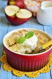 Apple and pear crumble. Stock Images