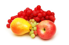Apple, pear and grapes Royalty Free Stock Photo
