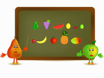 Apple and pear illustration Royalty Free Stock Image