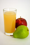 Apple-pear juice. In а glass Stock Image
