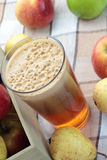 Apple and pear juice. Stock Images