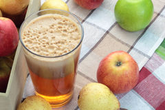 Apple and pear juice. Royalty Free Stock Image