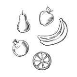 Apple, pear, lemon, banana and pomegranate Royalty Free Stock Image