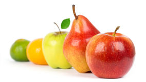 Apple, pear and orange Royalty Free Stock Photo