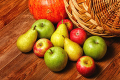 Apple, pear, pumpkin Royalty Free Stock Photography