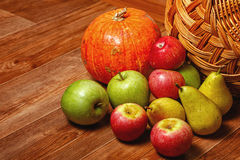 Apple, pear, pumpkin Royalty Free Stock Images