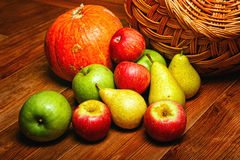 Apple, pear, pumpkin Royalty Free Stock Photo
