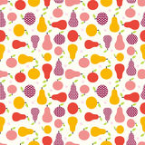 Apple pear seamless vector pattern Stock Images