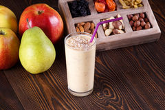 Apple pear smoothie Royalty Free Stock Photo