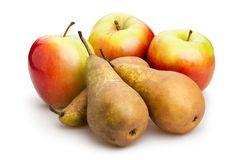 Apple and pear Stock Photo