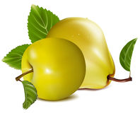 Apple and pears. Photo-realistic . Apple and pears Stock Photo