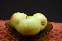 Apple and pears Stock Photos