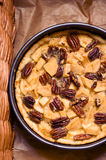 Apple and pecan nuts tart Royalty Free Stock Photography