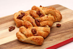 Apple and Pecan plait danish pastry Royalty Free Stock Photo