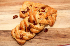 Apple and Pecan plait danish pastry Royalty Free Stock Image