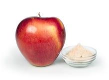 Apple and pectin powder. White isolated studio shot Stock Photo