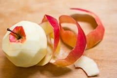 Apple peel. Red apple peel peeled chips Stock Image