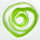 Apple peel spiral Stock Images