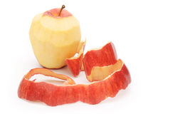 Apple with peeled skin Royalty Free Stock Photo