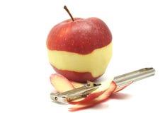 Apple peeling Stock Photography
