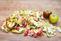 Apple peels Royalty Free Stock Images