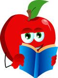 Apple pepper reading Stock Images