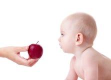 Apple per il bambino Fotografie Stock Libere da Diritti