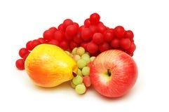 Apple, pera e uvas Foto de Stock Royalty Free