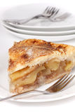 Apple Pie. Plump apples nestled in a melt in your mouth pastry crust perfect for Thanksgiving dessert royalty free stock images