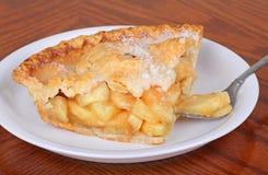 Apple Pie. Slice of apple pie sprinkled with sugar Stock Image