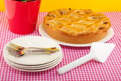 An apple pie Royalty Free Stock Photography