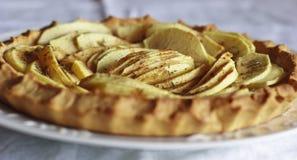 Apple pie. Traditional recipe of apple pie Stock Image