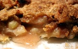 Apple Pie. Closeup of apple pie in a pie dish after a slice has been removed Stock Photography