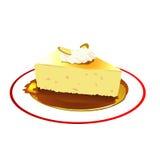 Apple pie. Quarter piece sweet apple pie Royalty Free Stock Photo