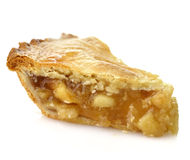 Apple Pie. A Slice Of Apple Pie On White Background ,Close Up Royalty Free Stock Images