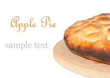 Apple pie. With sample text royalty free stock images