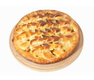 Apple pie. On white background, with clipping path included stock photos