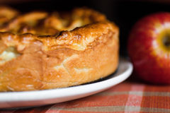 Apple pie. In the form in pan stock image