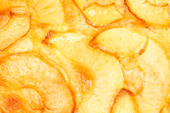 Apple Pie. Close-up of apple pie dessert texture Royalty Free Stock Photos