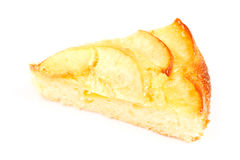 Apple Pie. One piece of apple pie dessert. On white Royalty Free Stock Photography