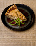 Apple Pie. A single slice of warm apple pie stock photos